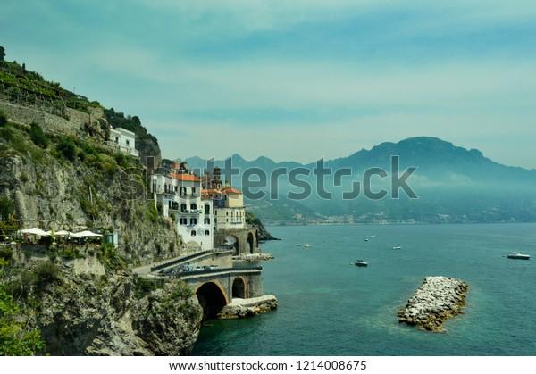 Amalfi Coast Beach Italy Stock Photo Edit Now 1214008675