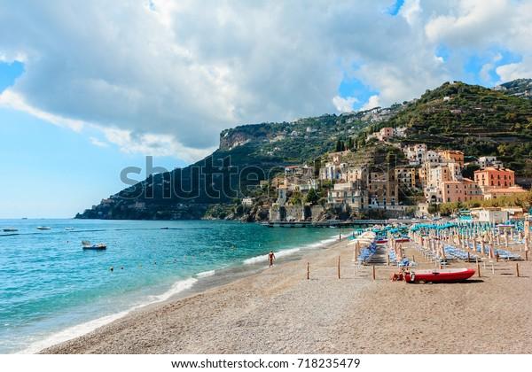 Amalfi Coast Beach Minori Italy Stock Photo Edit Now 718235479
