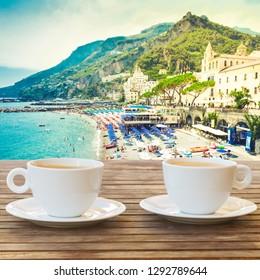 Amalfi coast cafe, Italy