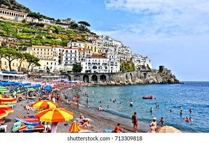 Amalfi. Amalfi Coast. Italy. Amalfi Coast - UNESCO World Heritage Site - major tourist destination and one the most visited places in southern Italy. Photo taken 2017-09-02