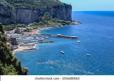 The Amalfi Coast near Vico Equense. Italy