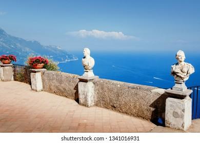 Amalfi Coast, terrace of infinity. Ravello, Salerno, Italy