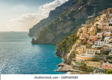 Amalfi Coast in wonderful light and colors