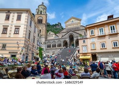 Amalfi / Italy 05.26.2015.The Cathedral of San Andres in Amalfi