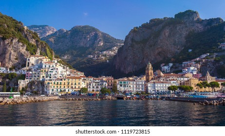 Amalfi, viewed from a ferry boat - Amalfi Coast, Italy