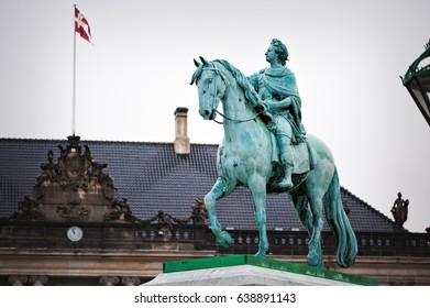 Amalienborg - The Danish Queens residence in Copenhagen, Denmark