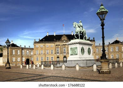 Amalienborg. Royal Palace in Copenhagen. Denmark