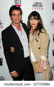 """Amanda Peet and guest at the """"American Horror Story Coven"""" Red Carpet Event, Pacific Design Center, West Hollywood, CA 10-05-13"""