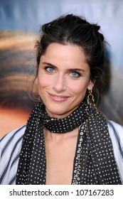 "Amanda Peet  at the Los Angeles Premiere of ""Pineapple Express"". Mann Village Theater, Westwood, CA. 07-31-08"