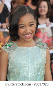 """Amandla Stenberg at the world premiere of """"The Hunger Games"""" at the Nokia Theatre L.A. Live. March 12, 2012  Los Angeles, CA Picture: Paul Smith / Featureflash"""