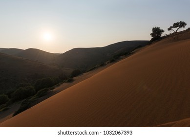 the amaning sand dunes of Lemnos island