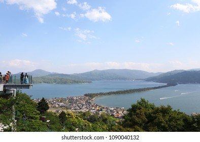 Amanohashidate landscape Kyoto Japan. Amanohashidate is one of Japan's best three scenic views.