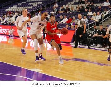 Amara Graham  guard for the University of Texas Rio Grande Valley Vaqueros at GCU Arena in Phoenix, Arizona/USA January 12,2019.