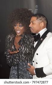 "Amara La Negra and Stevie J arrives at the Launch Party for Stevie J aka ""Sleazy J""  in Atlanta Georgia USA at the Revel in Atlanta on January 18th 2018"