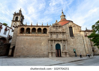AMARANTE, PORTUGAL - September 23, 2017: Built in the sixteenth and seventeenth centuries is the renascentist, mannerist and baroque church of Sao Goncalo, in Amarante, Portugal