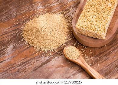 Amaranth cereal in bar - amaranthus