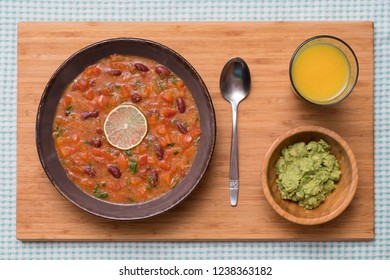 Amaranth Chili Sin Carne with Homemade Guacamole