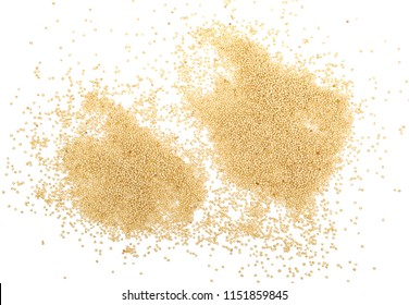 Amaranth seeds isolated on white background, top view