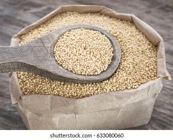 Amaranth seeds in the paper bag - Amaranthus