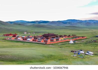 Amarbayasgalant Monastery, Mongolia -  July 16, 2010: Amarbayasgalant Monastery, one of the three largest Buddhist monastic centers in Mongolia, Selenge Province, northern Mongolia