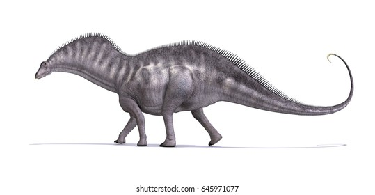 The Amargasaurus was a sauropod dinosaur that lived during the early Cretaceous period - 3d render.