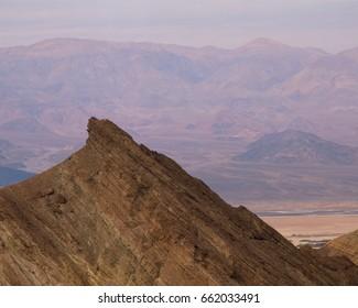 Amargosa Range ridge and the Panamints beyond, Death Valley National Park, California