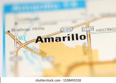 Amarillo on a map of the United States of America