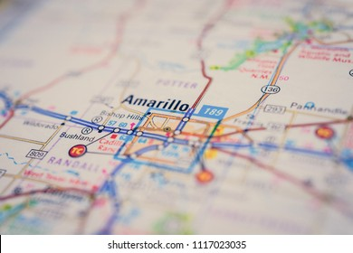 Amarillo, USA map background
