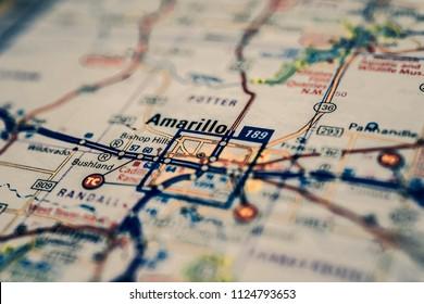 Amarillo, USA map background