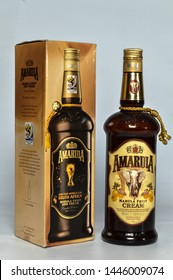 Amarula 2010 fifa world cup south africa marula fruit and cream limited edition isolated on white background 750 M.L. New Delhi, India 14-11-2018