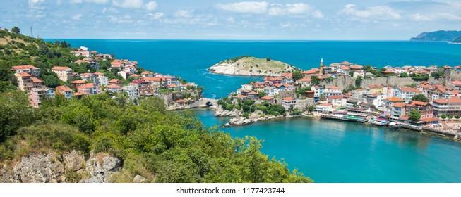 Amasra cityscape - Amasra is a small sea resort town in Bartin - Blacksea region / Turkey