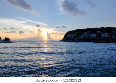 Amasra cove on the sunset
