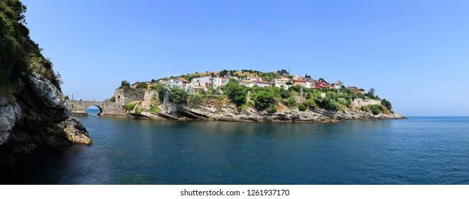 Amasra panorama in Bartin, Turkey