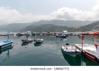 Amasra is a small and charming resort on the Black Sea Coast of Turkey. Fishing Boats.
