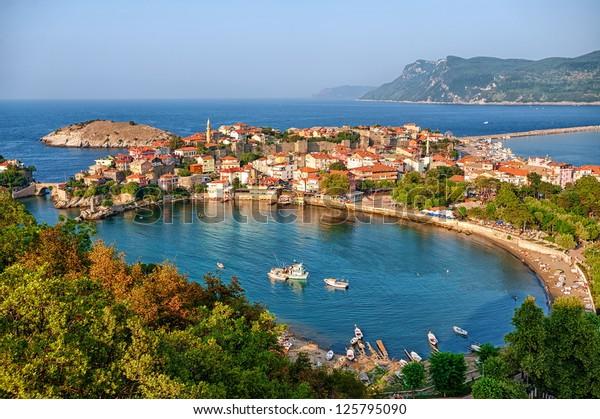 Amasra Stadt an der Schwarzmeerküste, Türkei