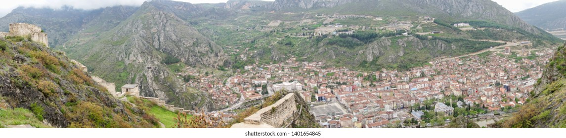 Amasya city panorama - Amasya is a main tourist magnet city famous with old renovated ottoman style houses - Amasya, Turkey