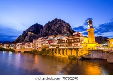 Amasya night view Turkey