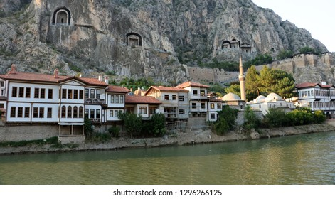 Amasya, Turkey - August 25 2018: People are discovering the historical and cultural beauties of the city of Amasya.