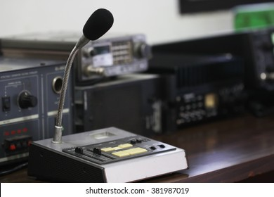 Amateur radio station: closeup of an a radio transceiver