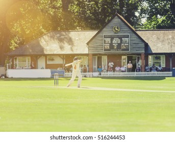 Amateur ricket match on a public village green