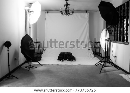 An Amateurs Photography Studio In A House