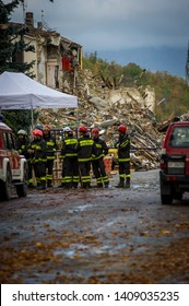 AMATRICE, ITALY - OCTOBER 2016: The earthquake in the center of Italy and Amatrice