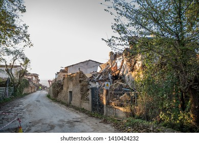 AMATRICE, ITALY - OCTOBER 2016: The earthquake of Amatrice in the center of Italy