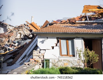 Amatrice,Italy,29 April 2017. The damage caused by the earthquake that hit central Italy in 2016. Amatrice,Italy, 29 April 2017.