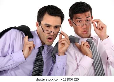 Amazed businessmen