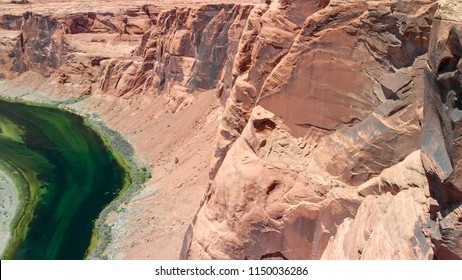 Amazing aerial view of beautiful canyon on a sunny summer day.