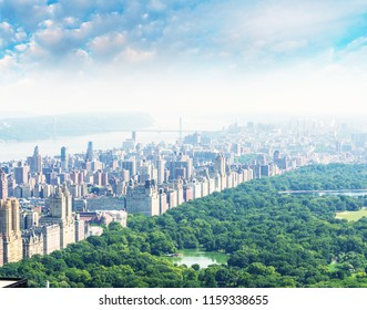 Amazing aerial view of Central Park in New York City.