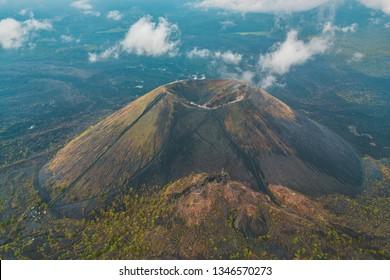 Amazing aerial view of the Paricutin Volcano in Michoacan, Mexico