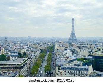 Amazing aerial view of Paris