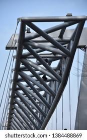 Amazing Akrobaten pedestrian bridge in Oslo, Norway